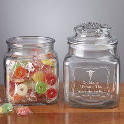 Doctor's Office Personalized Treat Jar