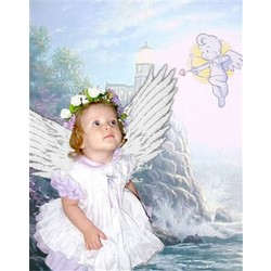 Lighthouse Angel Premium Luster Print