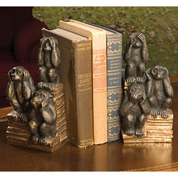 No Evil Monkeys Bookends