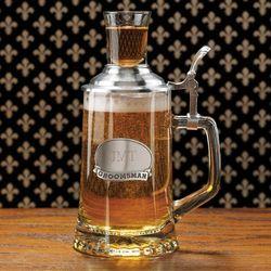 Engraved Lidded Beer Mug with Shot Glass