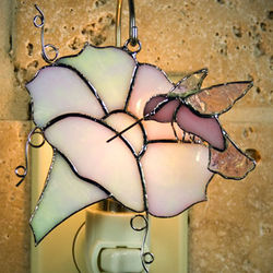 Morning Glory Stained Glass Ornament/Night Light Cover
