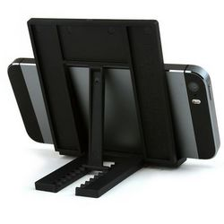Folding Phone Stand for Portable Video Player in Black