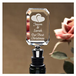 Personalized Our Hearts Wine Stopper