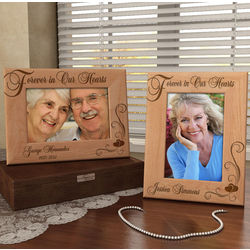 Personalized Forever in Our Hearts Wooden Picture Frame