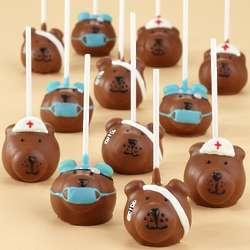 Handmade Get Well Bear Cake Pops