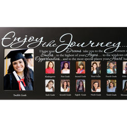 Enjoy the Journey School Pictures Frame