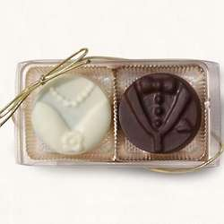 Bride and Groom Gourmet Chocolate Covered Oreos