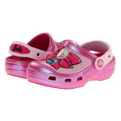 Crocs Girls Barbie Bow Clog Shoes