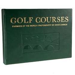 Leather Bound Golf Courses Coffee Table Book