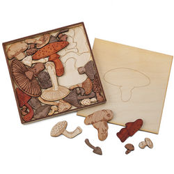 Handcrafted Mushroom Puzzle