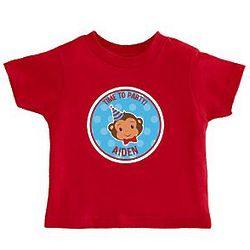Personalized Party Monkey Birthday Apparel