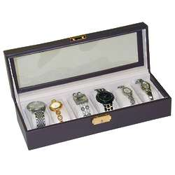 Chocolate Brown Leigh Bonded Leather Watch Box