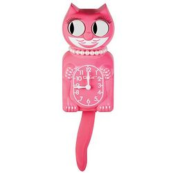 Pink Kit Cat Clock