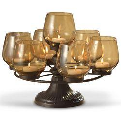 Amber Tealight Round Centerpiece