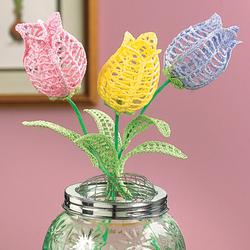 Crocheted Tulip Set