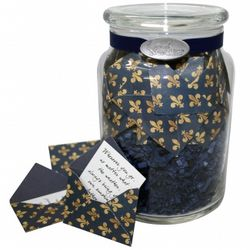 'Fleur de Lis' Jar of Messages in Mini Envelopes
