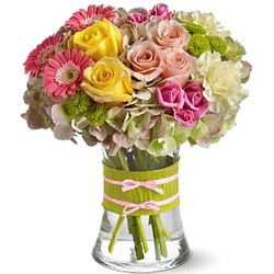 Fashionista Flowers with Vase
