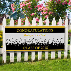 Personalized Congratulations Graduation Banner