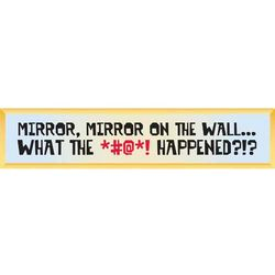 Mirror, Mirror On The Wall Decorative Sign