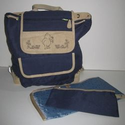 Navy Blue Classic Winnie the Pooh Diaper Backpack