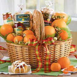 Holiday Abundance Deluxe Fruit and Snacks Gift Basket