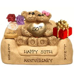Anniversary Figurine for Couples with up to 7 Kids