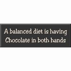 Chocolate in Both Hands Sign