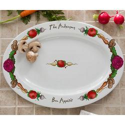 Personalized Bon Appetit Serving Platter