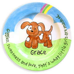 Girl's Personalized Puppy Birth Plate