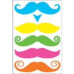 Pastel Gentleman Mustache Tattoos
