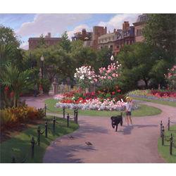 Walk in the Park Boston Public Garden Oil Painting Art Print