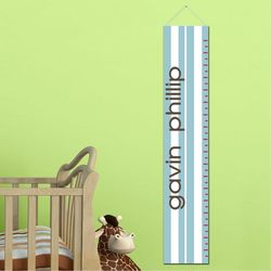 Blue Strips Personalized Growth Chart