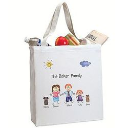 Family of Characters Tote Bag