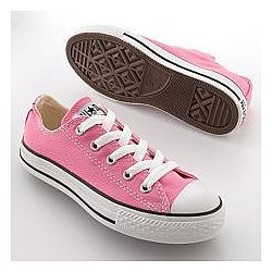Girls Pink Converse Sneakers
