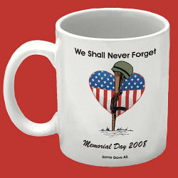 Memorial Day Personalized Coffee Mug