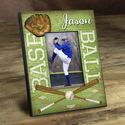 Personalized Kids Baseball Picture Frame