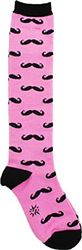 Moustaches Knee High Women's Socks
