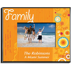 Personalized Family Sunshine and Flowers Photo Frame