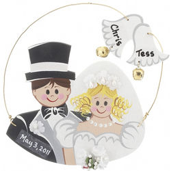 Personalized Bride and Groom Christmas Ornament