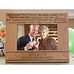 Personalized Birthday Fun Picture Frame