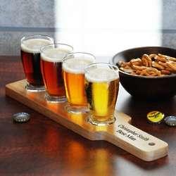 Beer is Art Personalized Beer Glass Tasting Set