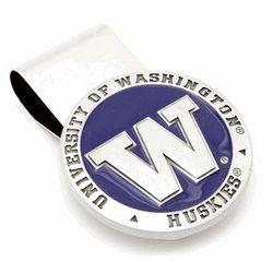 University of Washington Huskies Pewter Money Clip