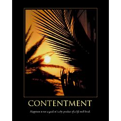 Personalized Contentment Mini Poster Print