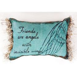 Friends are Angels with Invisible Wings Pillow