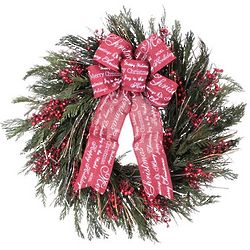 Seasonal Message Christmas Wreath