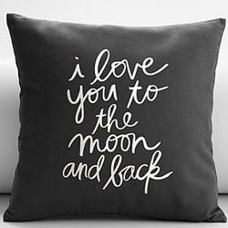 Love You to the Moon and Back Throw Pillow Cover