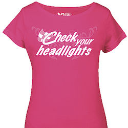 Check Your Headlights Pink Ladies Tee