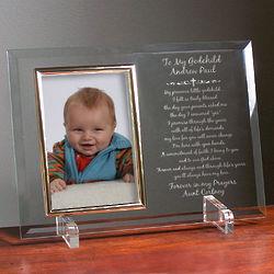 Godchild Beveled Glass Picture Frame
