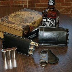 Clubhouse Traditions Cigar Flask Gift Set