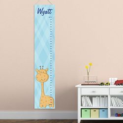 Baby Boy Giraffe Personalized Height Chart